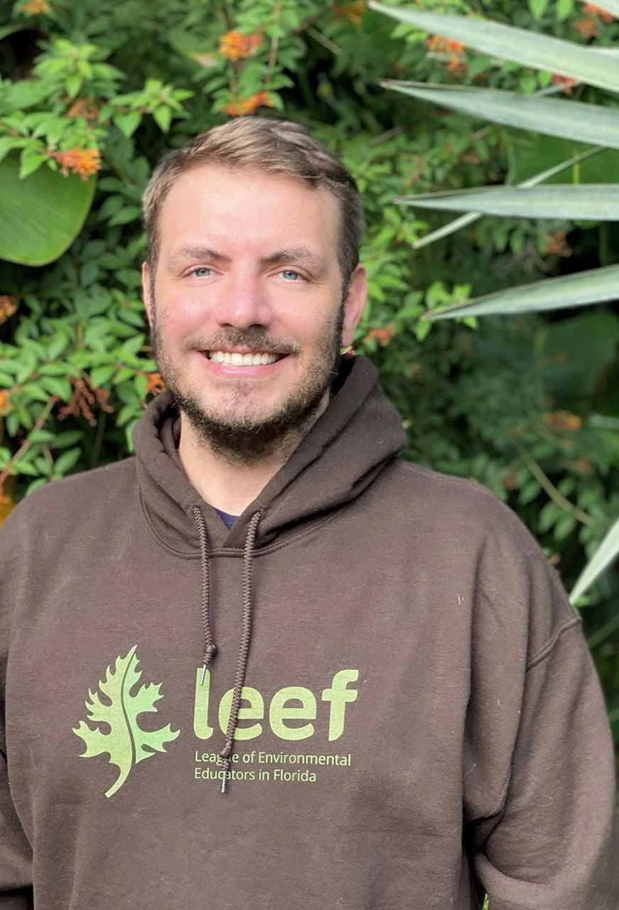 Kenneth Rainer is sporting his LEEF hoodie as he gets ready for cooler fall weather